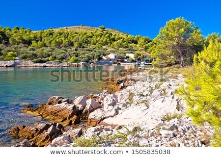 katina island narrow sea passage in kornati islands national par stock photo © xbrchx