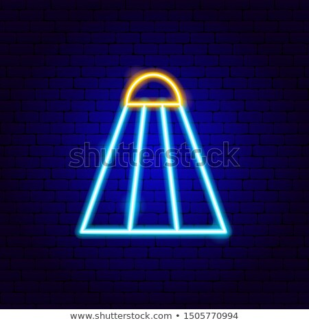 Badminton Neon Sign Stock photo © Anna_leni