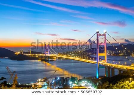 Hong Kong Tsing ma Bridge Stock photo © vichie81