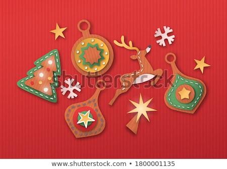 クリスマス 安物の宝石 孤立した 3D 段ボール ストックフォト © cienpies