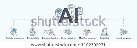 inteligência · artificial · linha · modelo · projeto · negócio - foto stock © anna_leni