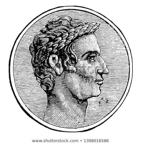 Цезарь римской политик общий Vintage линия Сток-фото © doomko