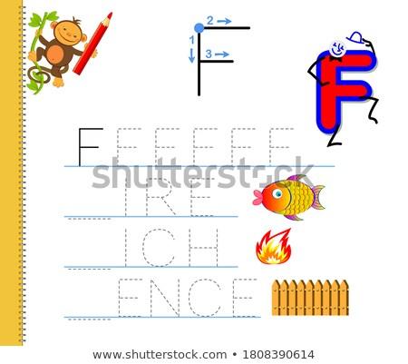 F is for words educational task for children Stock photo © izakowski