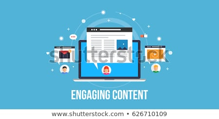 Video content marketing concept vector illustration. Stock photo © RAStudio