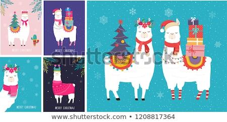 Baby christmas wenskaart weinig hoed Stockfoto © liolle