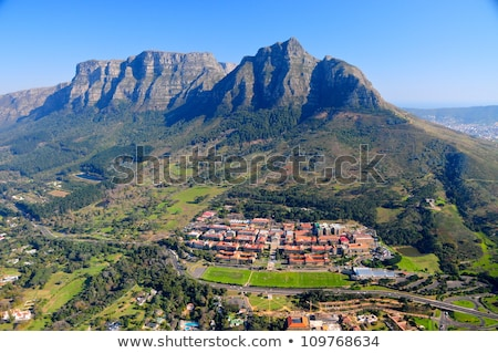 aerial view over Table Mountain and Cape Town, South Africa Stock photo © timwege