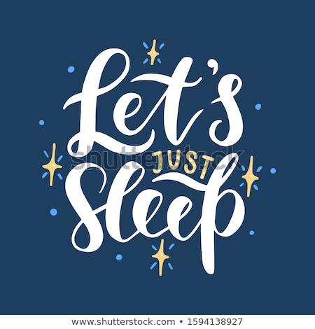 Uyku iyi gece baskı tshirt Stok fotoğraf © barsrsind