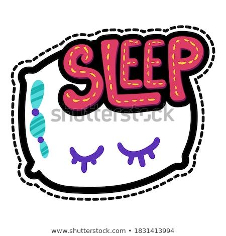 Dream lettering stitched frame illustration Stock photo © barsrsind