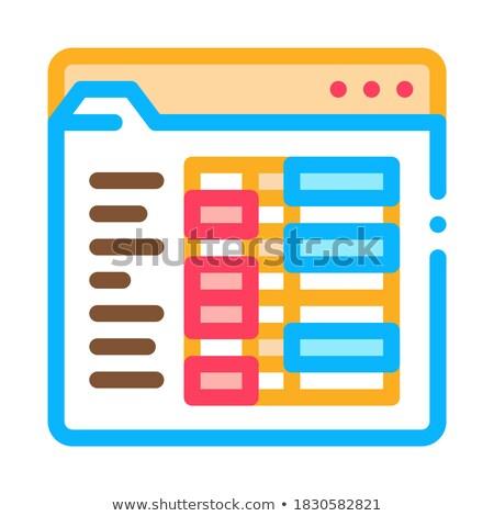 Diák statisztika mappa ikon vektor skicc Stock fotó © pikepicture