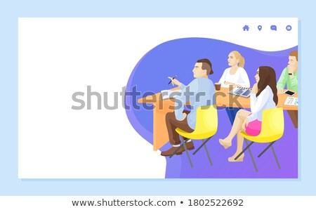 Business School Listeners Attentive People Web Stock photo © robuart