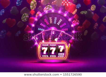 Roda colorido caça-níqueis vetor números frutas Foto stock © robuart
