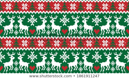 Christmas Rood borduurwerk symbolen Stockfoto © robuart