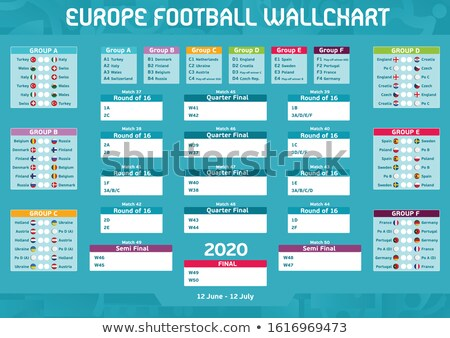 Euros match calendrier football championnat calendrier Photo stock © ukasz_hampel