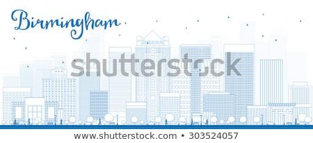 Outline Birmingham (Alabama) Skyline with Blue Buildings Stock photo © ShustrikS