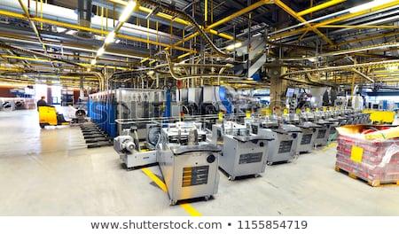 рабочих производства линия печати завода портрет Сток-фото © pressmaster
