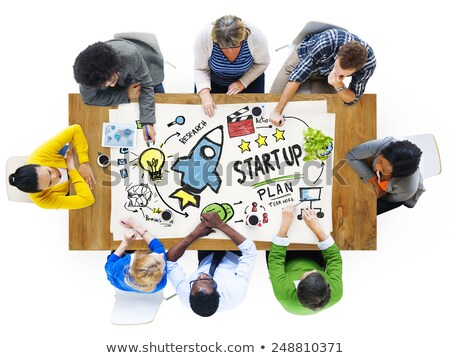 Spaceship Launch, Startup or Business, Teamwork Stock photo © robuart