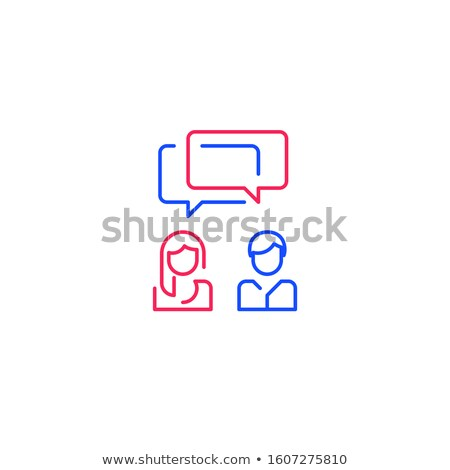 common work of two people icon vector outline illustration Stock photo © pikepicture