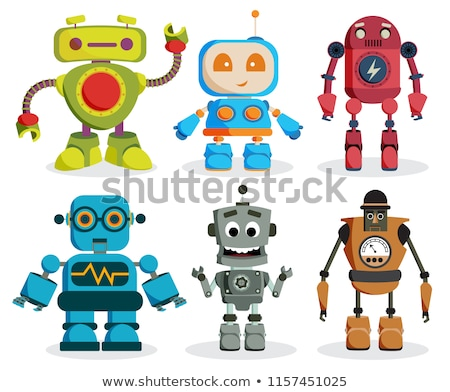 Robotic Character with Friendly Face Humanoid Stock photo © robuart