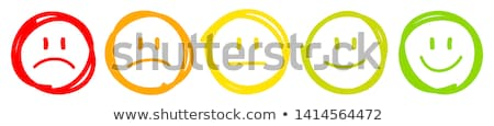 Refuse emoticon Stock photo © yayayoyo