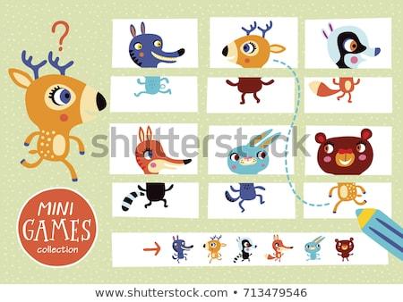 Diferencias educativo juego Cartoon conejos ilustración Foto stock © izakowski