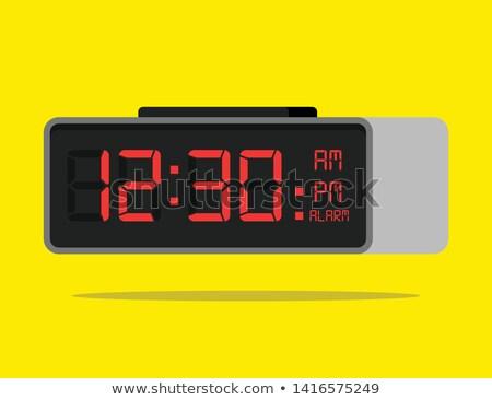 countdown · timer · vector · analoog · zwarte · scorebord - stockfoto © adrian_n