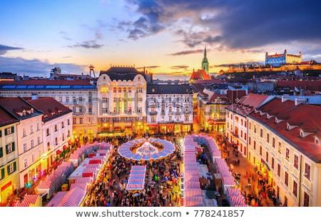 Velho mercado Bratislava Eslováquia Foto stock © phbcz