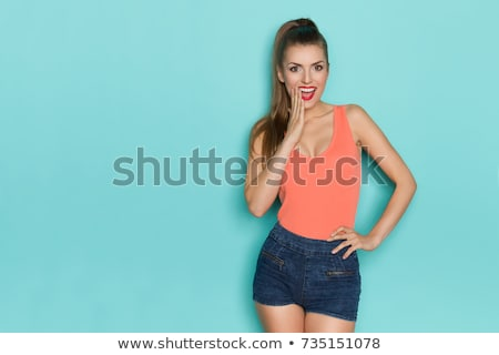 Woman with cleavage. Stock photo © iofoto