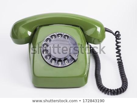 старые телефон гарнитура спираль кабеля белый Сток-фото © pterwort