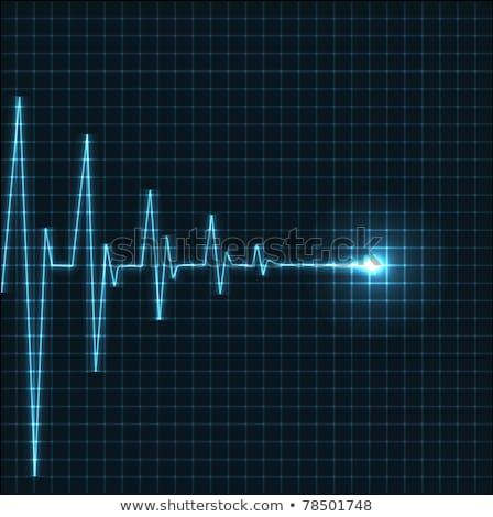 Abstrato coração cardiograma ilustração vetor vermelho Foto stock © orson