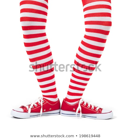 woman in red and white tights stock photo © photography33