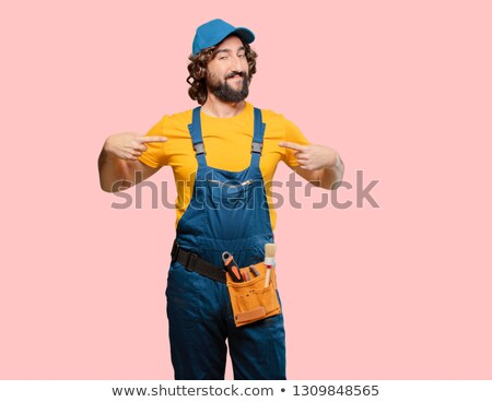 Arrogant handyman posing Stock photo © photography33