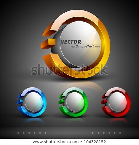 abstract glossy web icons set stock photo © pathakdesigner