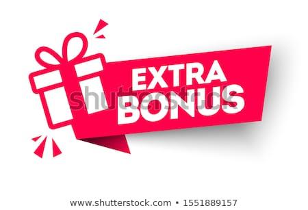 Extra bonus abstract ontwerp financieren winkel Stockfoto © marinini
