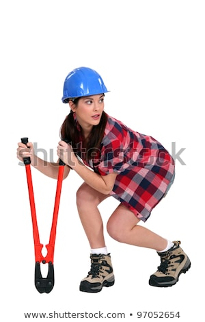 Sneaky woman with a pair of bolt cutters Stock photo © photography33