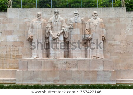Reformation wall in Bastions park, Geneva, Switzerland Stock photo © Elenarts
