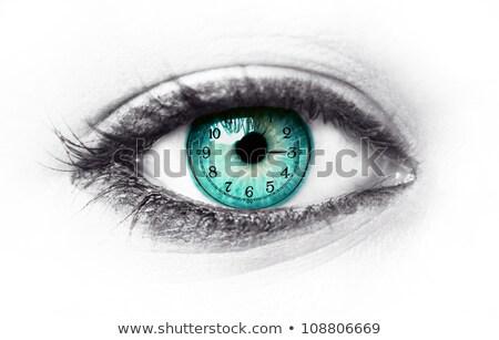 idő · engem · óra · közelkép · fehér · piros - stock fotó © donskarpo