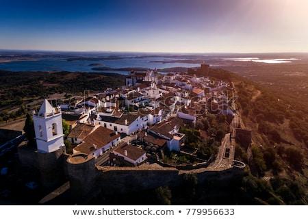 Templom falu dél Portugália ház épület Stock fotó © inaquim