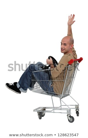 Stock photo: I transformed my trolley into a cart