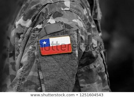 exército · Chile · quadro · guerra · serviço · silhueta - foto stock © perysty