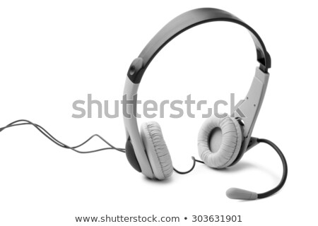 Leather headset with microphone Stock photo © RuslanOmega