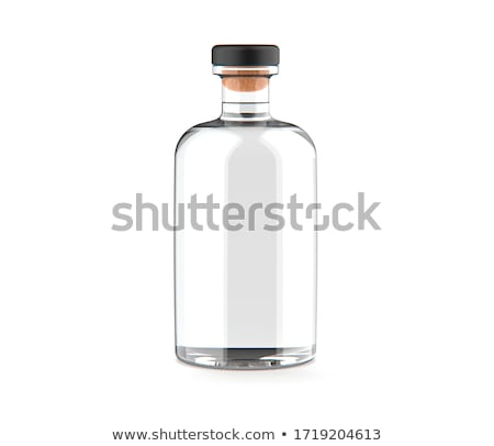 liquor bottle isolated on white Stock photo © ozaiachin