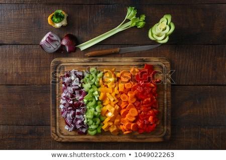 férfi · szakács · zöldségek · étterem · konyha · étel - stock fotó © sumners