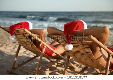 Santa Hat on a chair Stock photo © Sandralise