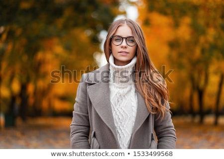 Jóvenes elegancia mujer mujer atractiva vestido negro Foto stock © filipw