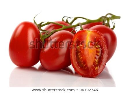 свежие · Cut · Рома · помидоров · красный · овальный - Сток-фото © ivonnewierink