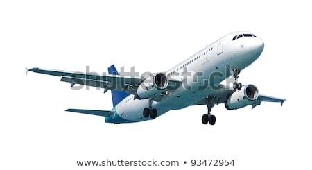 echt · jet · vliegtuigen · geïsoleerd · witte - stockfoto © moses