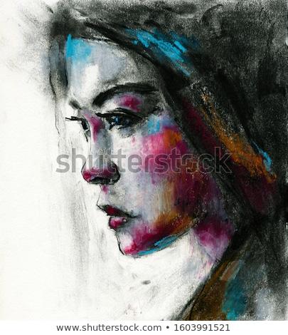 азиатских · девушки · портрет · выразительный · моде - Сток-фото © carlodapino