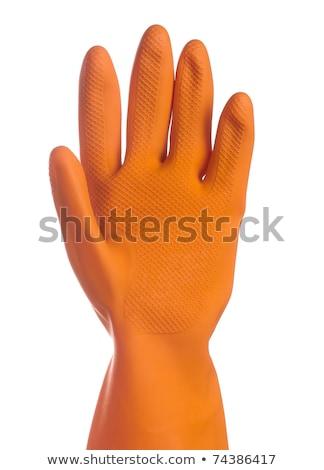 Schoonmaken handschoen flexibele elastisch werken witte Stockfoto © JohnKasawa