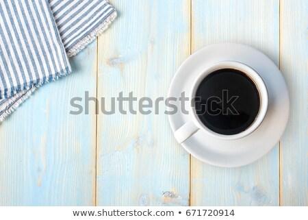 Кубок кофе скатерть кухне пространстве жизни Сток-фото © wavebreak_media