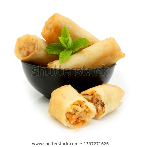 isolated spring roll and mint Stock photo © M-studio